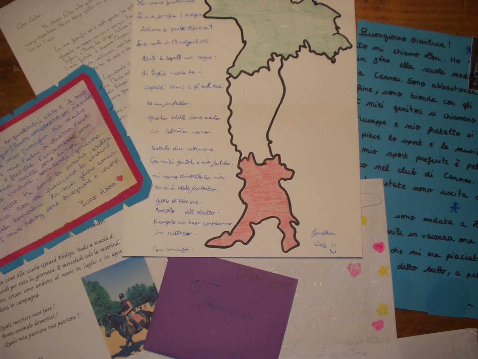 Et voilà nos réponses! Dans ces premières lettres, nous nous sommesprésentés et nous avons échangé autour d'un sujet très important : les vacances !
