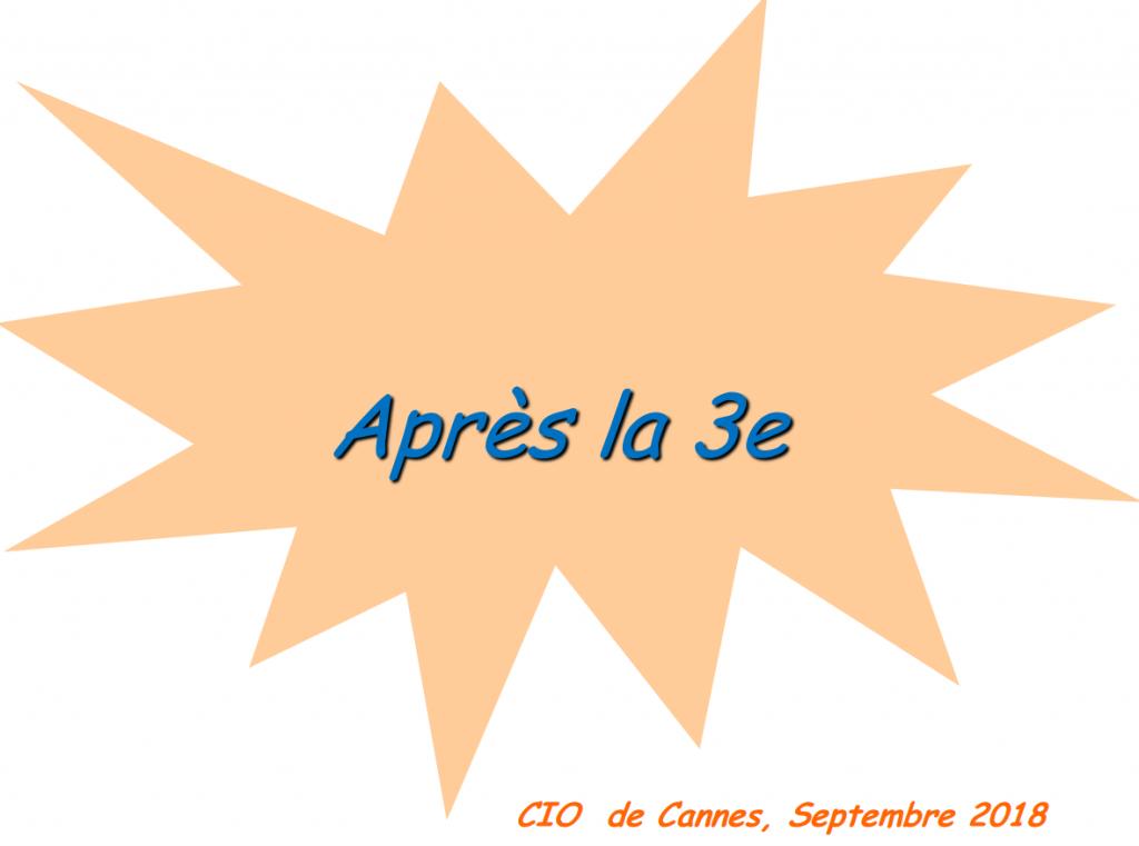 Orientation post 3ème CIO Cannes