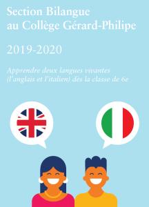 Section bilangue anglais italien
